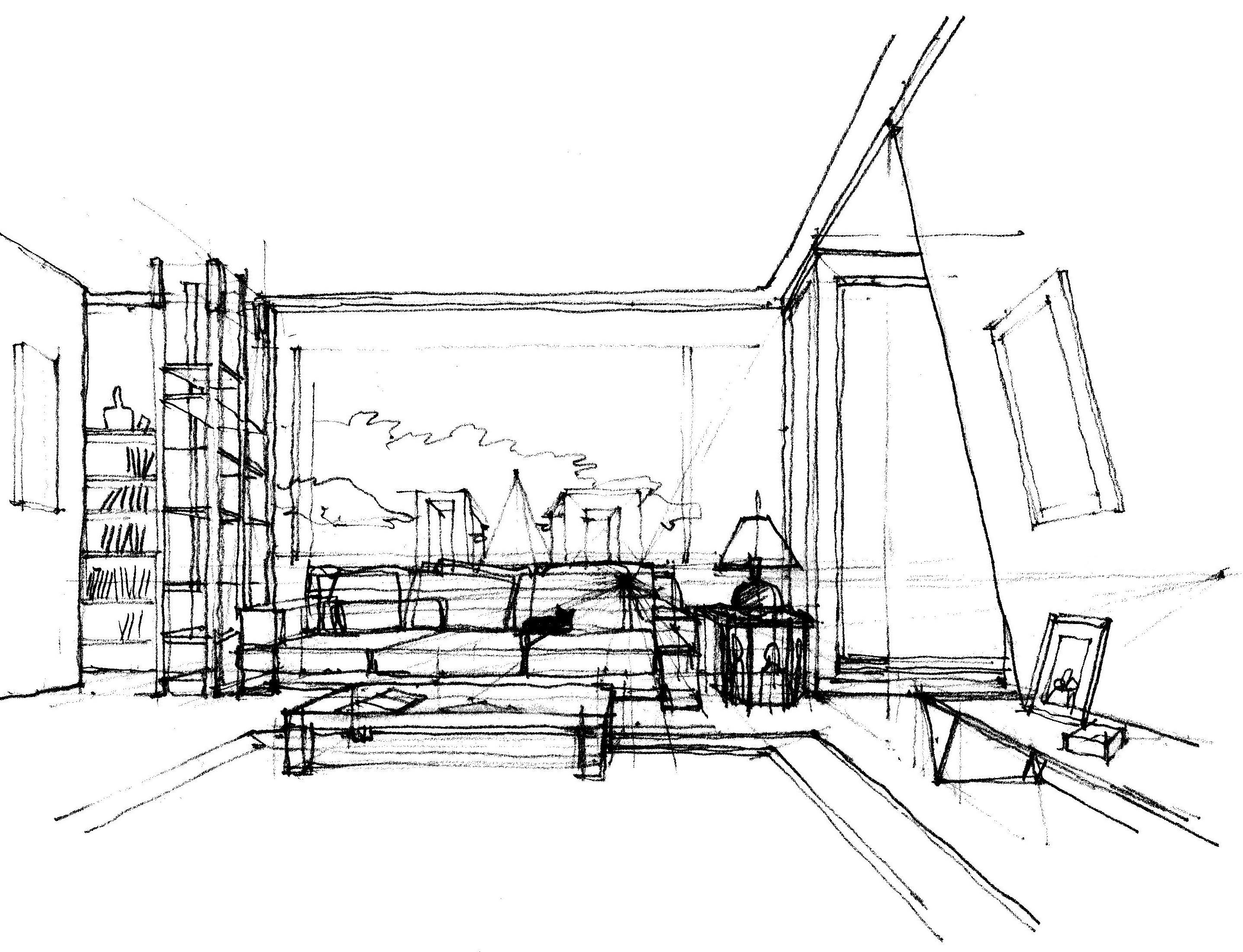 Assonometria madeininterior for Immagine di un disegno di architetto